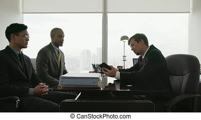 conférence, professionnels, équipe, appeler, conseiller, 8, réunion