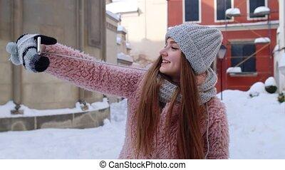 confection, blogger, réseaux, femme, images, photo, social, mobile, ville, téléphone, selfies, rue