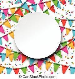 confetti, arrière-plan., célébration
