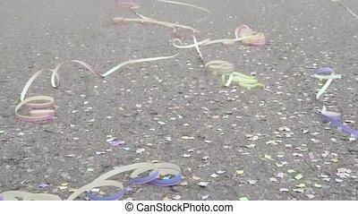 confetti, banderoles