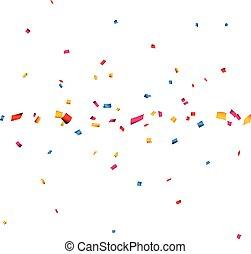 confetti, banner., célébration