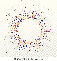 confetti, coloré, fond, célébration