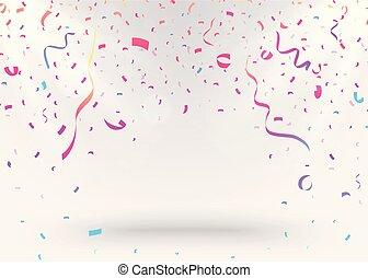 confetti, fond, coloré, célébration