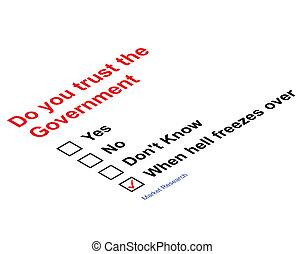 confiance, gouvernement