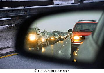 confiture, trafic, miroir