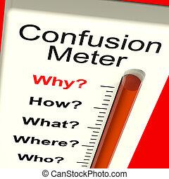 confusion, dilemme, indécision, mètre, spectacles