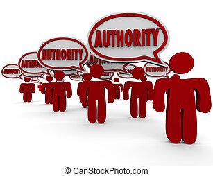 connaissance, gens, sommet, habile, autorité, re, experts, parole, bulles