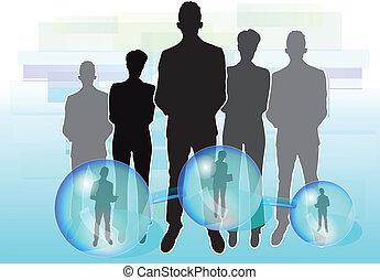 connecté, affaires illustration, gens