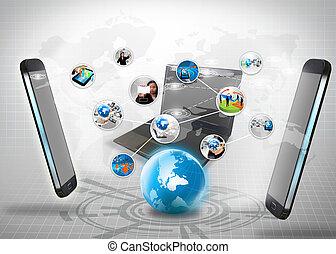 connexion, affaires globales