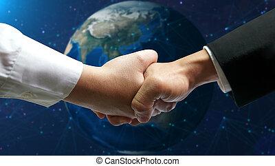connexion, concept, business