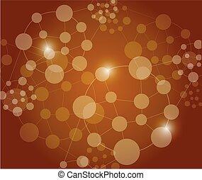 connexion, conception, liens, illustration