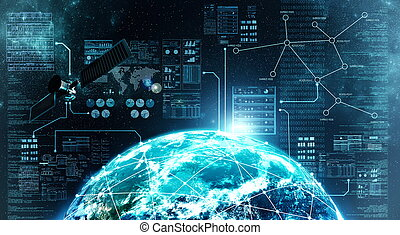 connexion, extérieur, internet, espace
