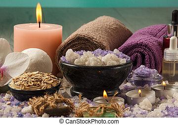 conseils, bois, lumière, accessoires, traitement, spa, composition