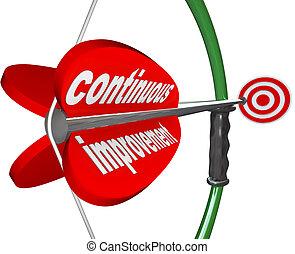 constante, continu, arc, mieux, flèche, progrès, amélioration