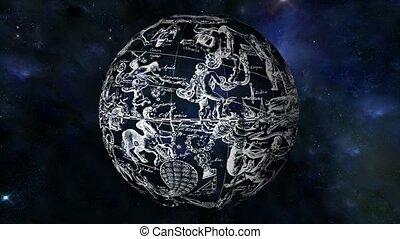 constellation, carte étoile