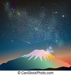 constellation, manière, laiteux