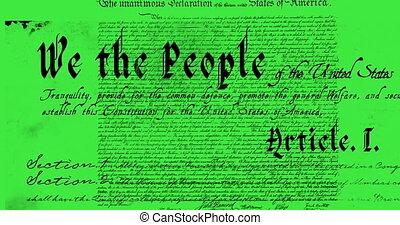 constitution, écrit, 4k, etats unis