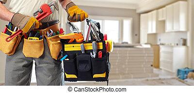 constructeur, construction, bricoleur, tools.
