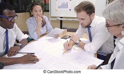 constructeur, investisseur, concepteur, collaboration, architecte, bureau.