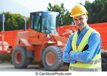 constructeur, site construction, ingénieur