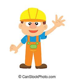 constructeur, vecteur, illustration