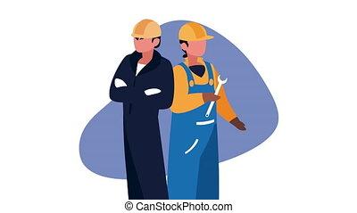 constructeurs, constructors, ouvriers, caractères
