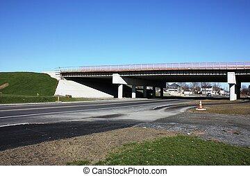 construction, autoroute, pont