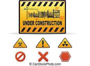 construction, avertissement