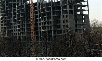 construction bâtiments, appartement, vue, sous