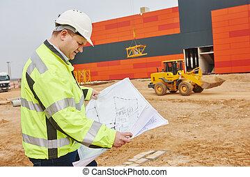 construction, constructeur, ingénieur, site