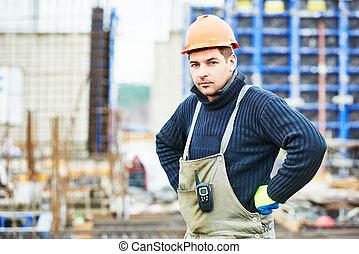 construction, constructeur, ouvrier, site