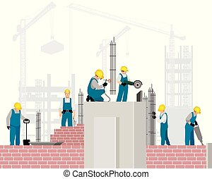 construction, constructeurs, site