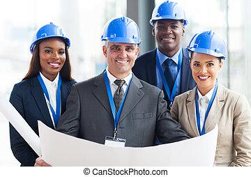 construction, directeurs, équipe