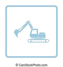 construction, excavateur, icône