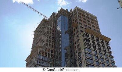 construction, gratte-ciel, bâtiment