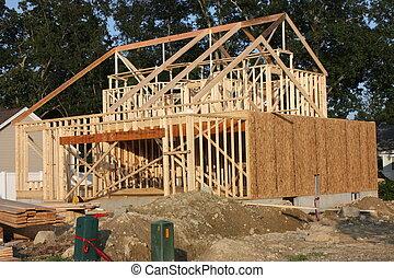 construction, maison, nouveau, sous
