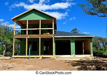 construction maison, site