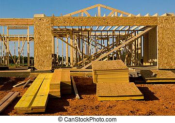 construction, maison, sous