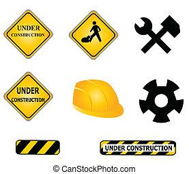 construction, outils, signes