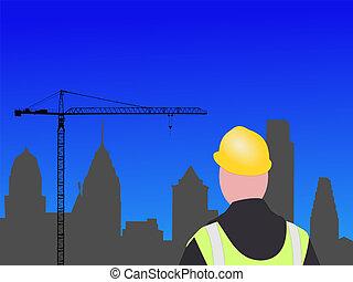 construction, philadelphie, site
