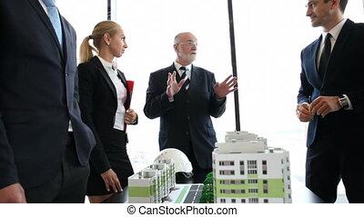 construction, réunion, business