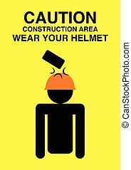 construction, signe prudence, secteur