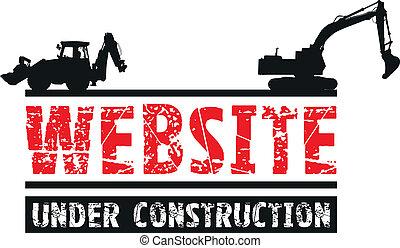 construction, site web