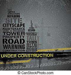 construction, typographie, sous