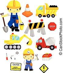 construction, vecteur, ensemble