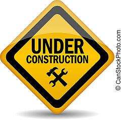 construction, vecteur, signe