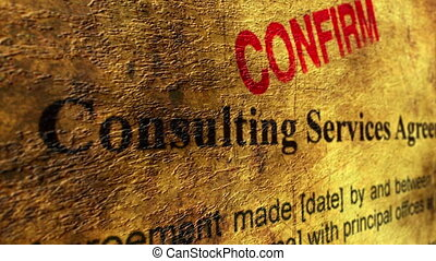 consultant, accord, confirmer, service