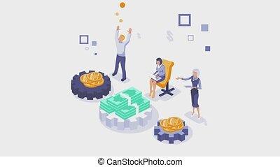 consultation, financier, animation