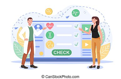 consultation, ligne, service, ou, conseiller, monde médical