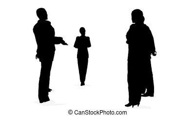 consultation, silhouette, gens